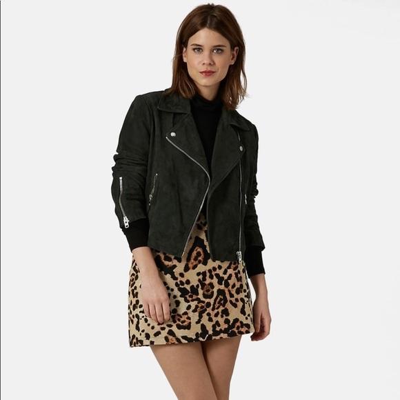 5afaf53cb8c1 Topshop Leopard Print A-line Jacquard Mini Skirt. M_5b47904a951996068159ecc3